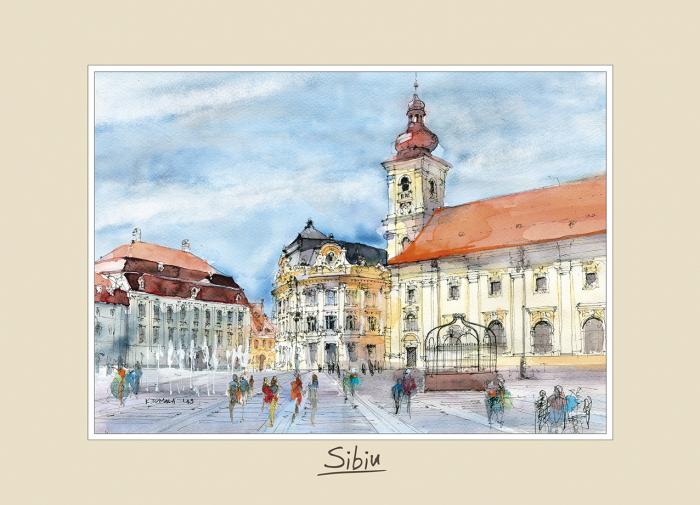 Tablou mediu Sibiu 3 - 15 x 21 cm 0