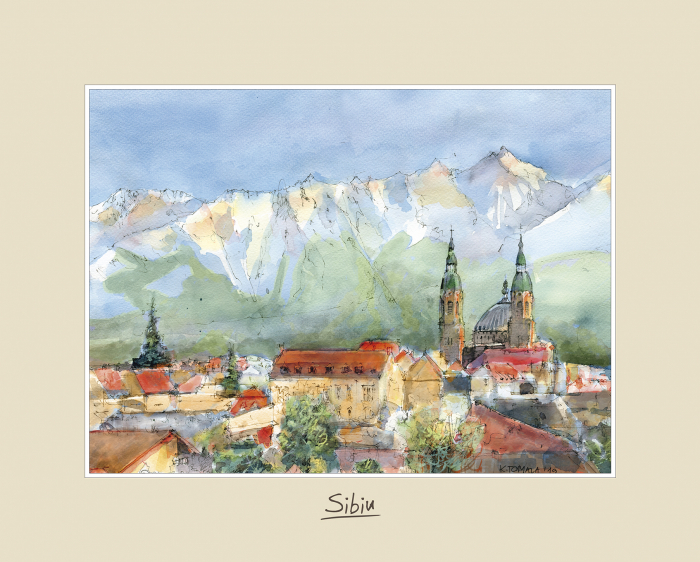 Tablou mare Sibiu 2 - 24 x 30 cm 0