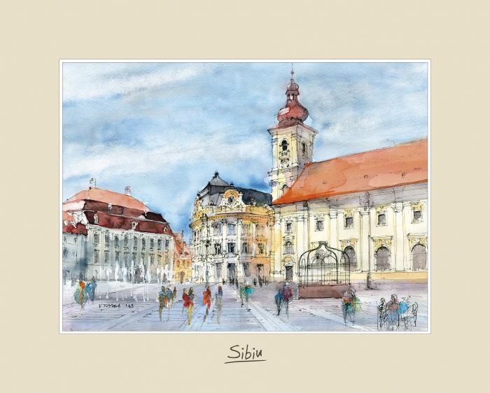 Tablou mare Sibiu 3 - 24 x 30 cm 0