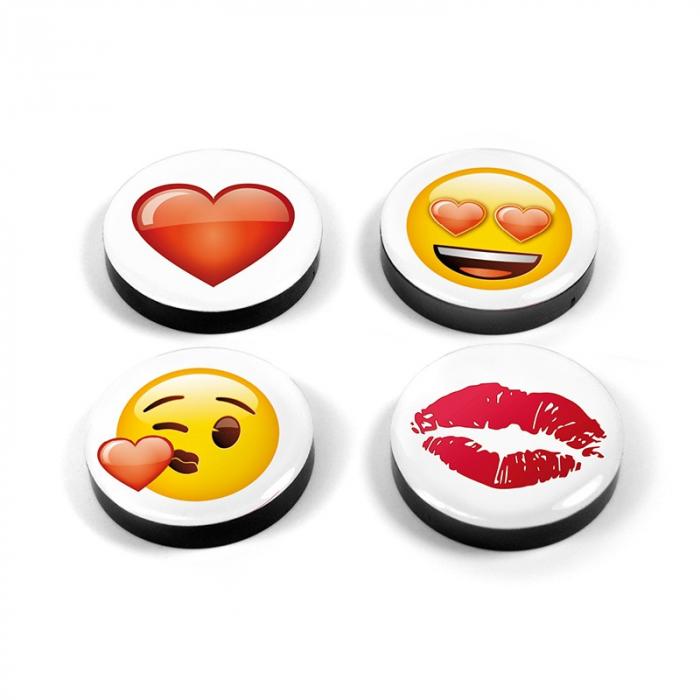 Set 4 magneti Emoji Love 0
