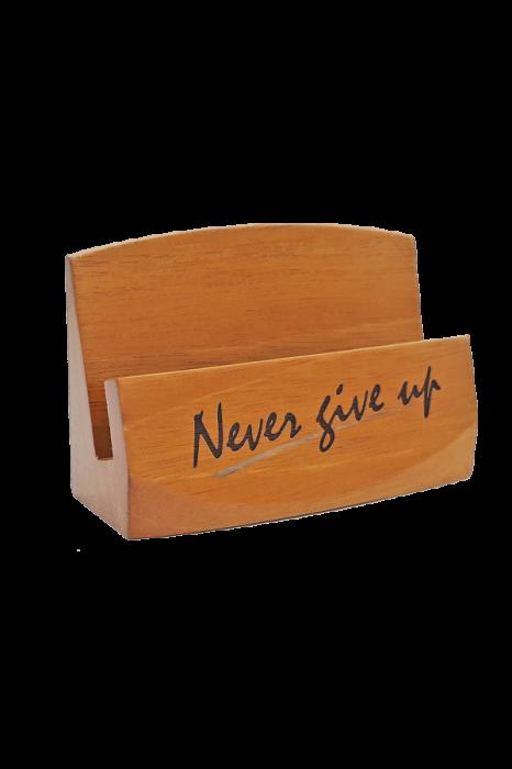 Suport pentru cărți de vizită - Never give up - GBC05-399 0