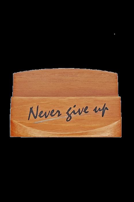 Suport pentru cărți de vizită - Never give up - GBC05-399 1