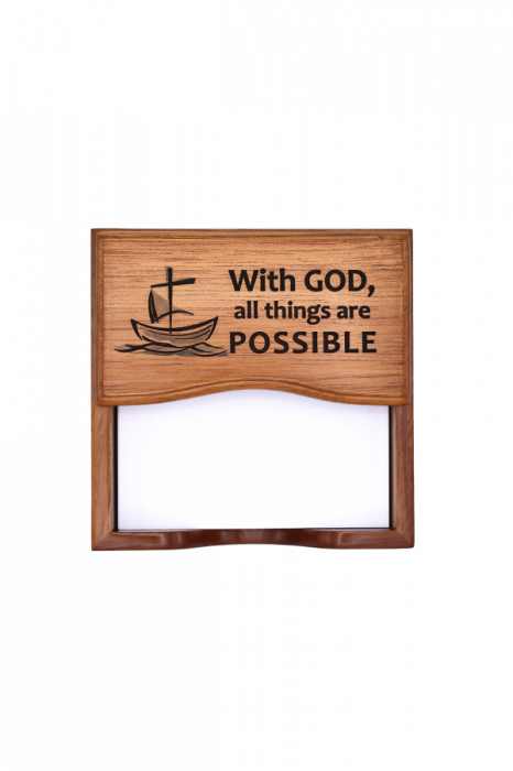 Suport notițe pentru birou - With God all things are possible - GNP1-378 0