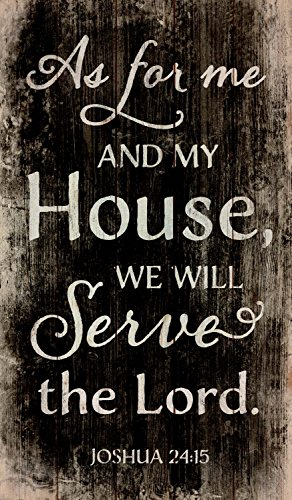 Tablou lemn (limba engleza) - My House Will Serve The Lord 0