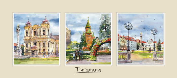 Tablou triptic Timisoara 0