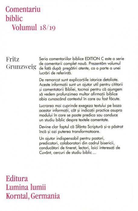Epistolele catre Timotei & Tit & Filimon, comentariu biblic, vol. 18/19 1