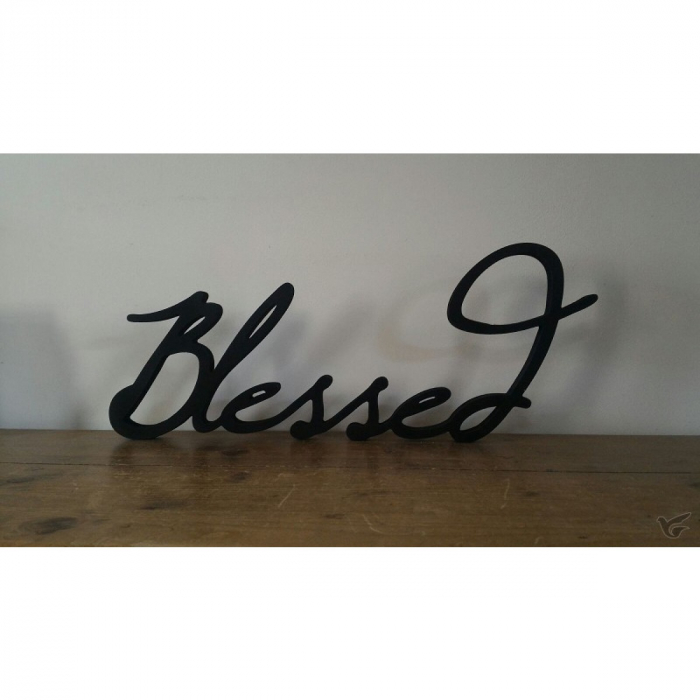 Decor perete lemn - Blessed 0