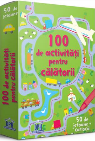 100 de activitati pentru calatorii. 50 de jetoane0