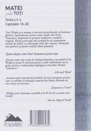 Matei pentru toti. Partea a II-a. Capitolele 16-281