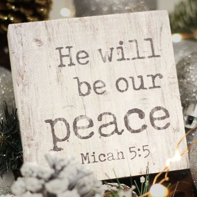 He will be our peace [1]