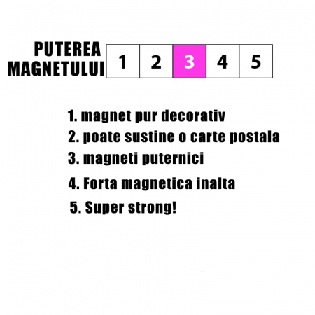 Magnet utilitar - STEELY RED (10 buc/set)