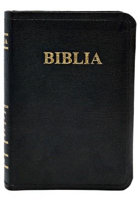 Biblie mica de lux, fara fermoar, cu margini aurii si index de cautare, NEAGRA [0]