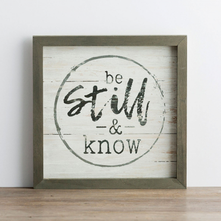 Be still and know [0]
