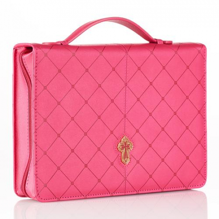 Cross - Pink - Large - LuxLeather [0]