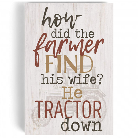 How did the farmer find his wife? [3]