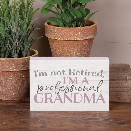 I,m not retired, I'm a professional [4]