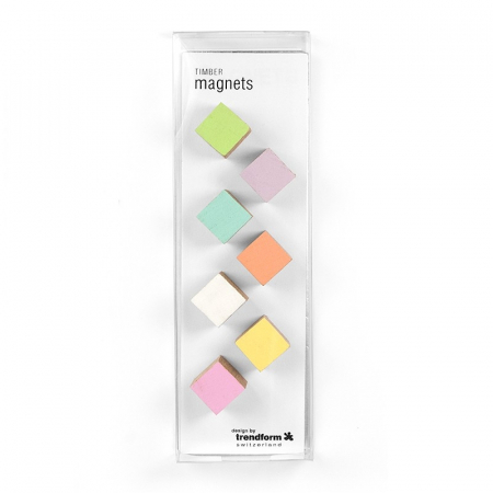 Magneti din lemn - cub - TIMBER (7 buc/set)1