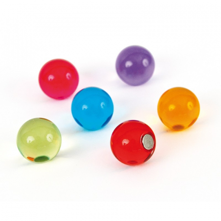 Magnet utilitar - minge colorata - Bolla (6 buc/set)