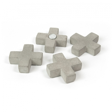 Magneti - cruce ciment - CONCRETE CROSS (4 buc/set)0