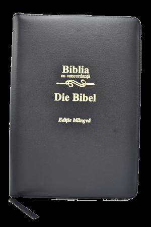 Biblie - editie bilingva romana-germana - neagra, PF - cu concordanta0
