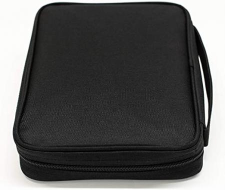 Black nylon with silkscreened grey cross [3]