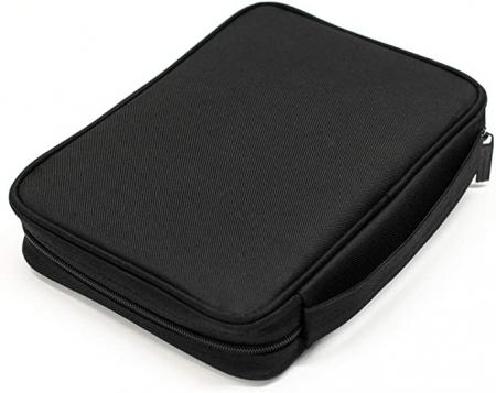 Black nylon with silkscreened grey cross [1]