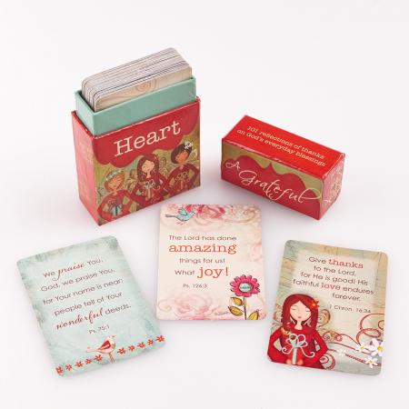 Set carduri cu verset (limba engleza) - Grateful Heart4