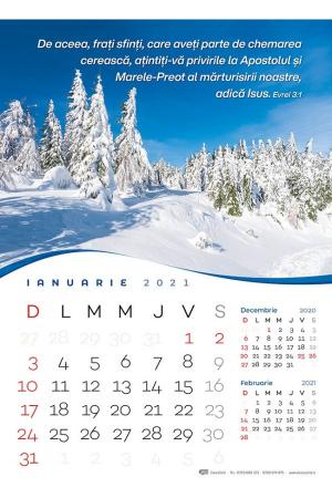 Calendar de perete 2021 - format mare A30