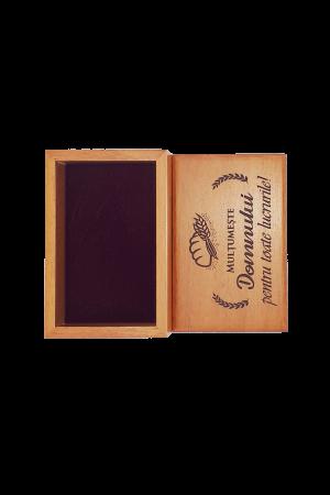 Cutiuță din lemn - Mulțumește Domnului pentru toate lucrurile! - BEP4-07R1