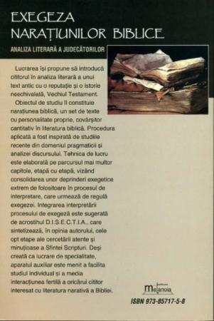 Exegeza naratiunilor biblice. Analiza literara a Judecatorilor1