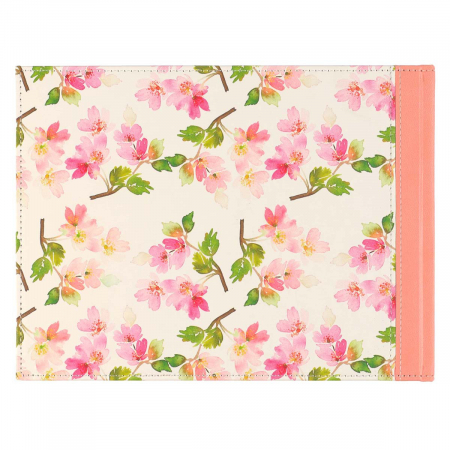 Floral Medium Pink Faux Leather [1]