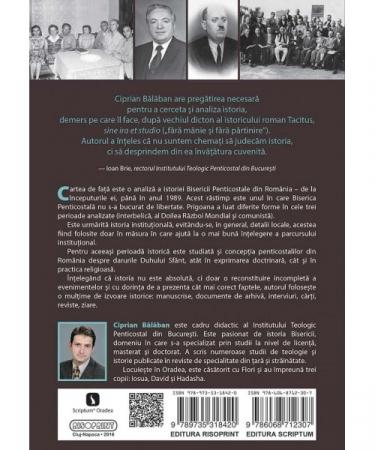 Istoria Bisericii Penticostale din Romania (1922-1989). Institutie si harisme1