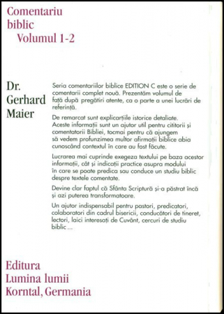 Evanghelia dupa Matei, comentariu biblic, vol. 1/2.1