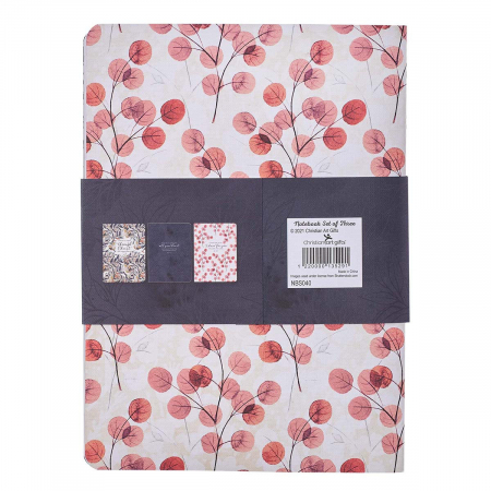 Through Christ Navy Floral Large Notebook [1]