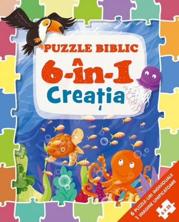 Puzzle biblic 6 în 1 - Creatia0