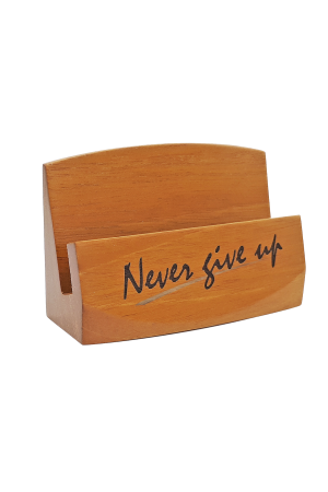 Suport pentru cărți de vizită - Never give up - GBC05-3990