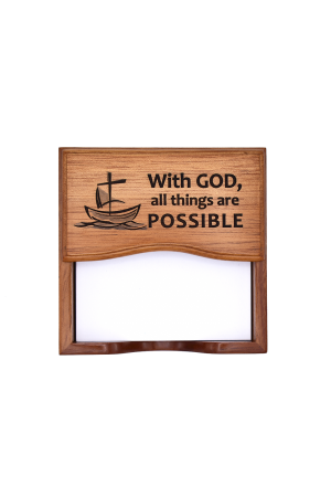 Suport notițe pentru birou - With God all things are possible - GNP1-3780