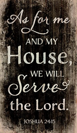 Tablou lemn (limba engleza) - My House Will Serve The Lord0
