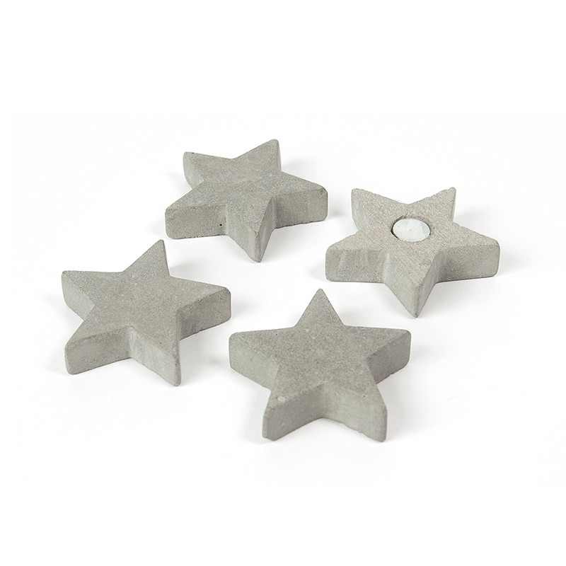 Magnet - stea ciment - CONCRETE STAR (4 buc/set)0