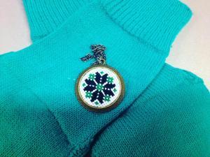 Pandantiv traditional romanesc (verde)1