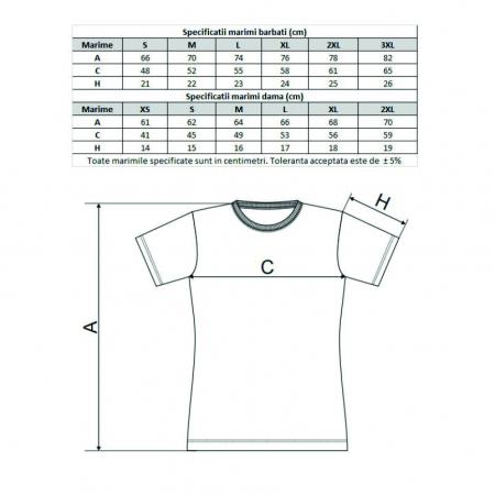 """Tricou alb personalizat: """"Nu sforai, Torc"""" (damă) [3]"""