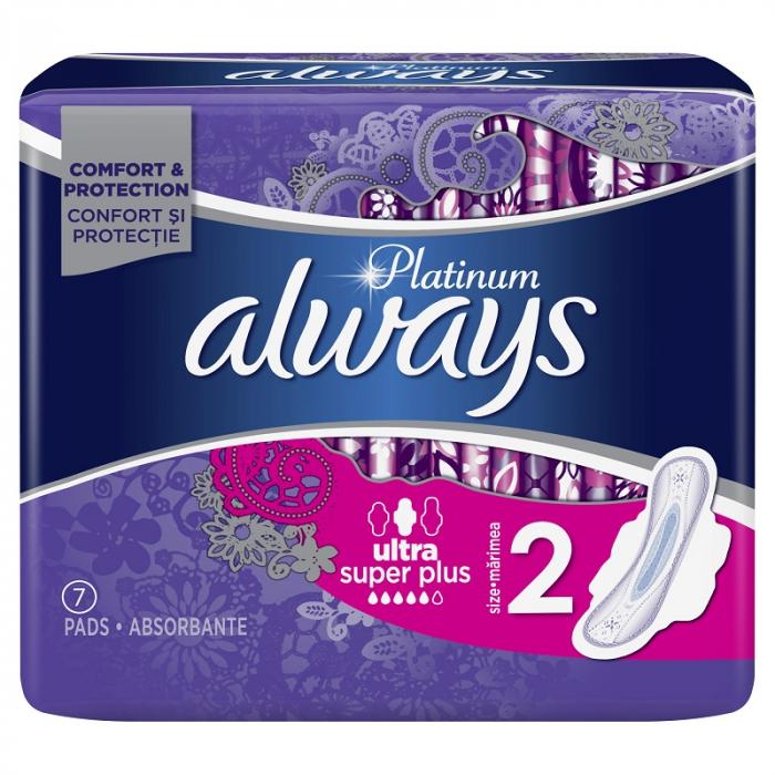 Absorbante Always Platinum Super, 7 bucati [0]