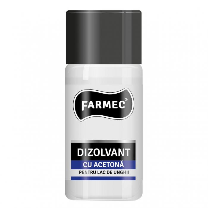 Dizolvant cu acetona Farmec pentru lac de unghii, 50ml [0]