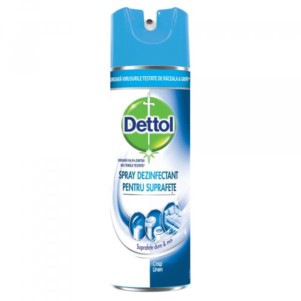 Spray dezinfectant suprafete Dettol Crisp Linen 400ml [0]