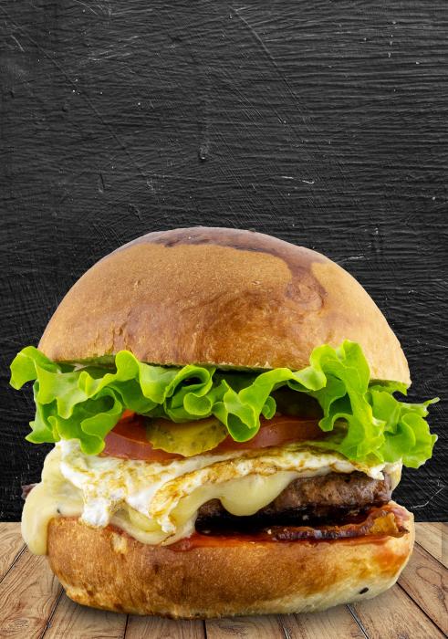 Egg & Beef Burger Menu 1