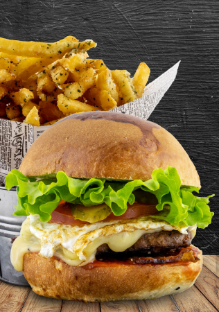 Egg & Beef Burger Menu