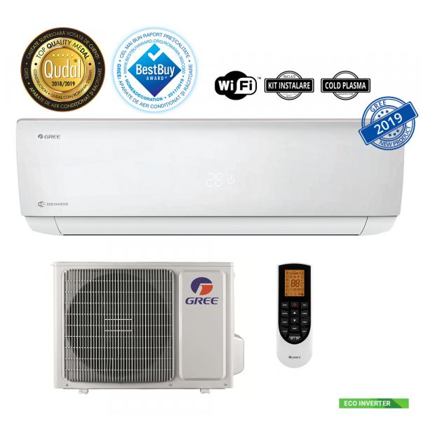 Aer conditionat inverter Gree Bora A4 Silver 12000 BTU, kit instalare inclus, A++, wifi inclus, alb 0