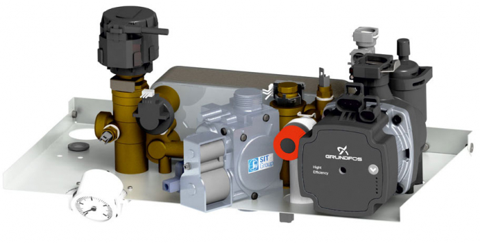 Centrala termica in condensare Motan Condens 100 - 29 kw C38GC29V1, kit evacuare  inclus, model 2021 [4]