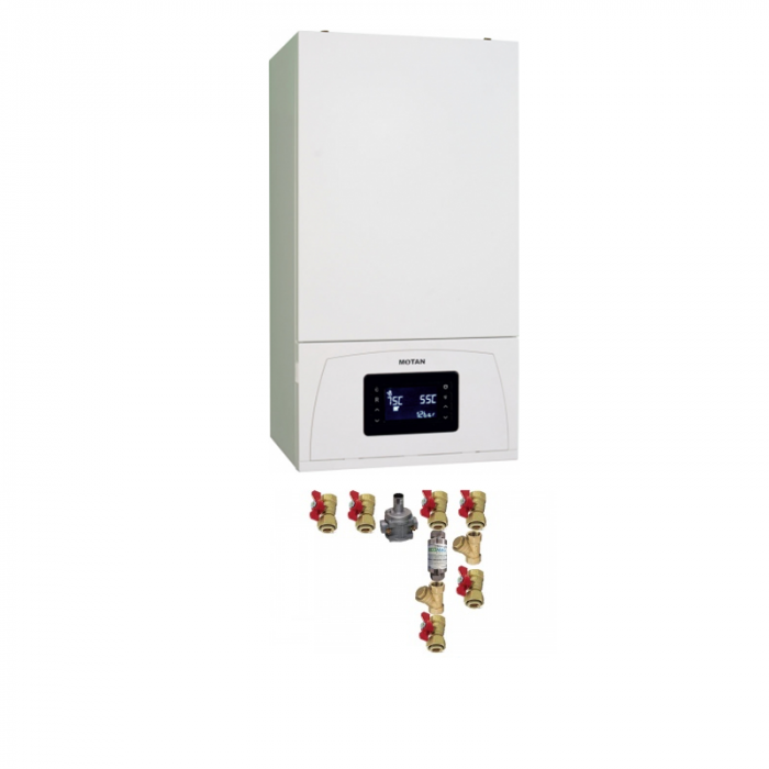 Centrala termica in condensare Motan Condens 100 25 - 25 kw C38GC25-PV1, kit evacuare inclus si kit instalare [0]