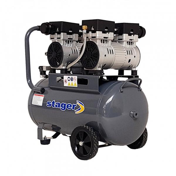 Compresor silentios Stager HM50JW-0.75x2 50L 330L/min 1
